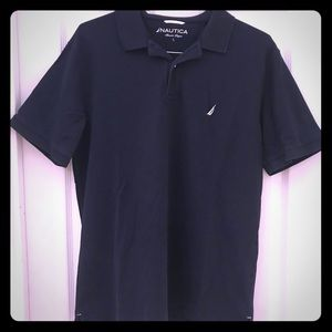 Nautica men's size Large navy blue polo EUC